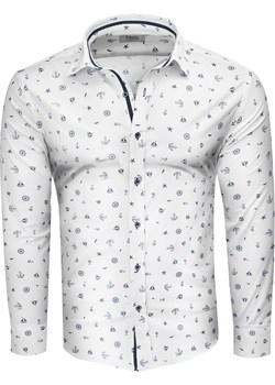 Koszula męska slim biała Recea  Recea okazja Recea.pl  - kod rabatowy