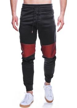 Spodnie męskie dresowe czarne Recea  Recea promocja Recea.pl  - kod rabatowy