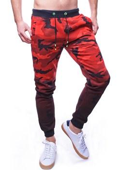 Spodnie męskie dresowe szare czerwone Recea Recea  promocja Recea.pl  - kod rabatowy