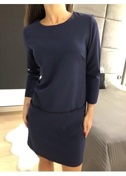 Granatowa Sukienka z Kieszeniami 2396-97-B  Modnakiecka.pl  promocyjna cena  - kod rabatowy