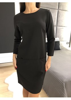 Czarna Sukienka z Kieszeniami 2396-97-C  Modnakiecka.pl wyprzedaż   - kod rabatowy
