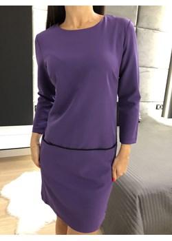Fioletowa Sukienka z Kieszeniami 2396-97-D Modnakiecka.pl  okazja   - kod rabatowy