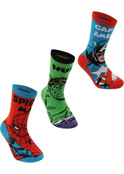 Marvel 3 Pack Crew Socks Junior Marvel  FACTCOOL  - kod rabatowy
