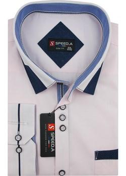 Koszula Męska Speed.A gładka jasny róż na długi rękaw duże rozmiary D882  Speed.A swiat-koszul.pl - kod rabatowy