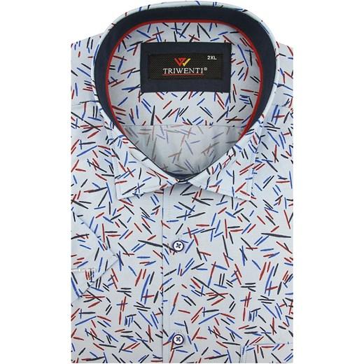 Koszula męska Triwenti z tkaniny z krótkimi rękawami w Domodi  KkidW