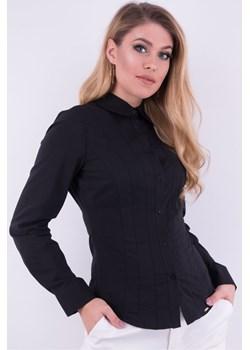 Taliowana koszula czarna 419 419, Kolor: Czarny, Rozmiar: 36 Wibs   - kod rabatowy