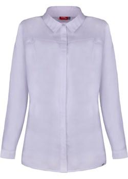 Biała koszula z ozdobnymi przeszyciami na kołnierzyku 2734 2734, Rozmiar: 38 Wibs   - kod rabatowy