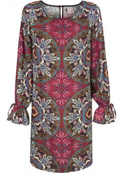 Sukienka z falbaną na rękawach   elite - kod rabatowy