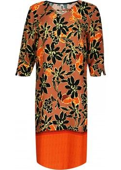 Sukienka z ozdobnym dekoltem   elite - kod rabatowy