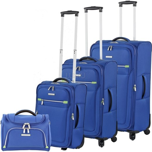 12822407f3bf0 Komplet walizek + kuferek Travelite Formentera - 3 x walizka + kuferek  Travelite, walizki miękkie