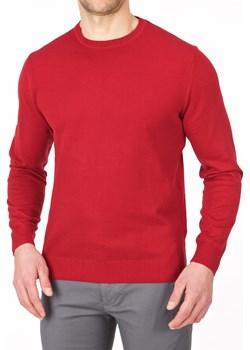 Sweter męski półgolf niski czerwony - regular Lanieri  promocja Lanieri.pl  - kod rabatowy
