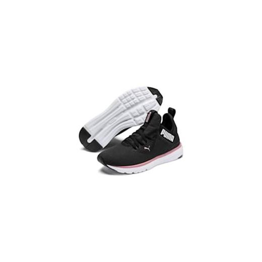 Buty sportowe damskie czarne Puma casualowe młodzieżowe wiązane płaskie