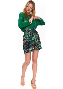Sweter ażurowy w modnym kolorze Top Secret zielony okazja   - kod rabatowy