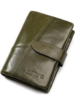 Portfel damski mały zielony ciemny skórzany  Kavi`s portfel i nie tylko - kod rabatowy
