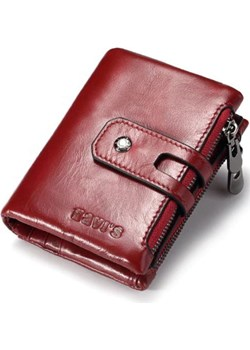 Portfel damski mały czerwony skórzany na zatrzask i zamek  Kavi`s portfel i nie tylko - kod rabatowy