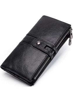 Portfel damski duży skórzany czarny Kavi`s  promocja portfel i nie tylko  - kod rabatowy