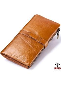 Portfel damski duży brązowy skórzany Kavi`s  wyprzedaż portfel i nie tylko  - kod rabatowy