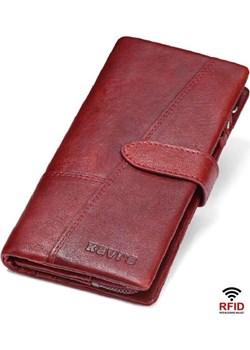 Portfel damski duży czerwony skórzany Kavi`s  okazja portfel i nie tylko  - kod rabatowy