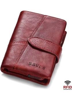 Portfel damski mały czerwony skórzany Kavi`s  portfel i nie tylko - kod rabatowy