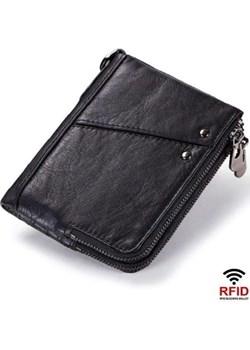 Portfel damski mały czarny skórzany  Kavi`s promocja portfel i nie tylko  - kod rabatowy