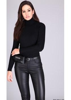 spodnie damskie monday jeans ** czarne klasyczne woskowane rurki push-up Monday Jeans  LUXURYONLINE - kod rabatowy