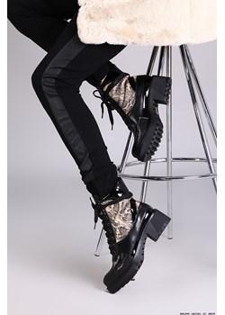 buty mellisa ** czarne botki wężowy print+ lakier- rasowe!  Mellisa LUXURYONLINE - kod rabatowy