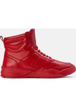 Czerwone sneakersy męskie Kazar  promocja kazar.com  - kod rabatowy