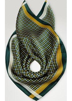 mała jedwabna apaszka z motywem kraty  Allora  - kod rabatowy