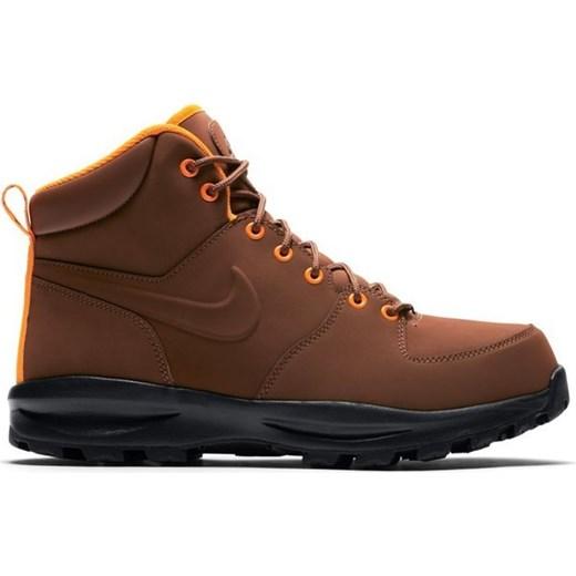 Buty zimowe męskie Nike brązowe skórzane