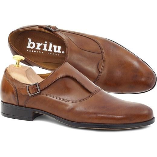 Buty eleganckie męskie Brilu z klamrą