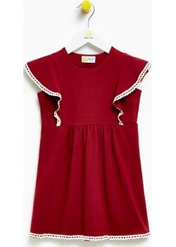 Sukienka dla dziewczynki Burgundy Butterfly Dress  Banana Kids promocyjna cena   - kod rabatowy