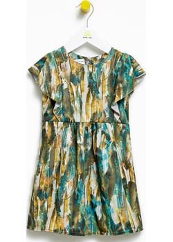 Sukienka dla dziewczynki Green Leaf Butterfly Dress  Banana Kids okazja   - kod rabatowy