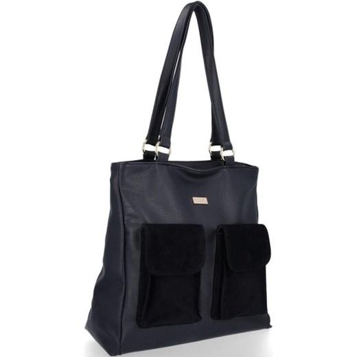 Shopper bag Conci bez dodatków z zamszu