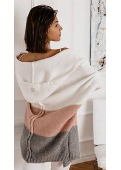Sweter Taste biały   Butik Latika promocja  - kod rabatowy