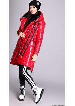 płaszcz damski speedway ** czerwony winylowy pikowany płaszcz  Speedway LUXURYONLINE - kod rabatowy