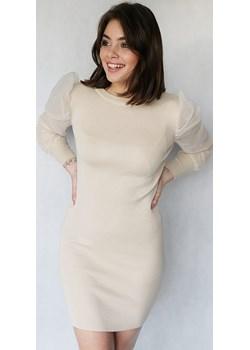 Mini sukienka w kremowym kolorze z rękawami z tiulu BLAKE  Endoftheday END OF THE DAY - kod rabatowy