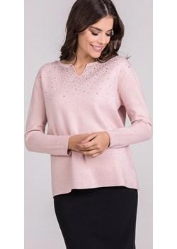 Sweter z połyskującą aplikacją przy dekolcie  Monnari promocyjna cena E-Monnari  - kod rabatowy