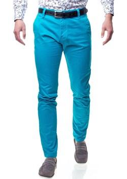 Spodnie męskie chinosy niebieskie Recea Recea  Recea.pl okazyjna cena  - kod rabatowy
