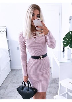 Dopasowana sweterkowa sukienka JESSICA - puder  Magmac magmac.pl - kod rabatowy
