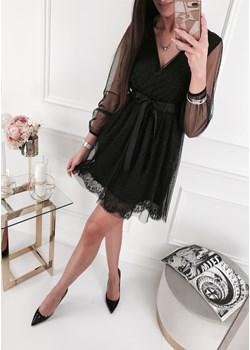 Sukienka - E196 czarna Ifriko.pl   - kod rabatowy