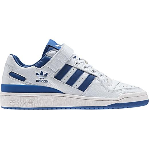 Buty sportowe męskie Adidas białe na rzepy skórzane
