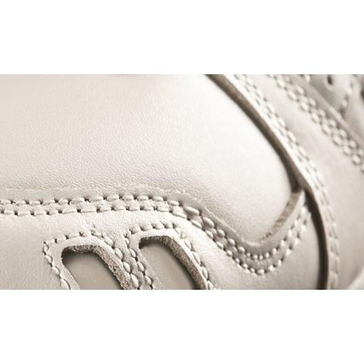 Asics buty sportowe damskie beżowe bez wzorów wiązane
