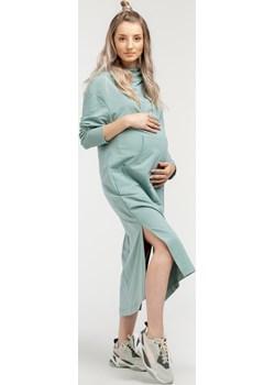 Sukienka ciążowa dresowa maxi 6007/6014  Que  - kod rabatowy