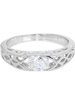 Srebrny pierścionek z piękną cyrkonią   monarti.pl - kod rabatowy