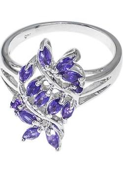 Srebrny pierścionek z ametystem   monarti.pl - kod rabatowy