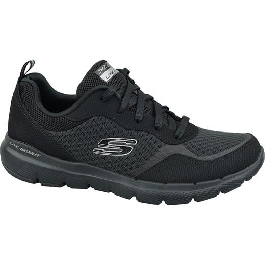 Buty sportowe damskie Skechers do biegania nike flex płaskie sznurowane bez wzorów