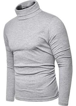 Bluza golf męski cmr6059 - szary Risardi   - kod rabatowy