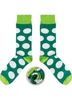 Zielone skarpety w białe grochy Cupofsox Women  Cup of sox - kod rabatowy