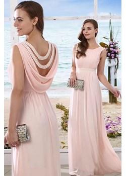 Sukienka z perłowym dekoltem na plecach   Butik Ecru - kod rabatowy