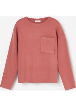 Reserved - Sweter z miękkiej dzianiny - Różowy  Reserved  - kod rabatowy